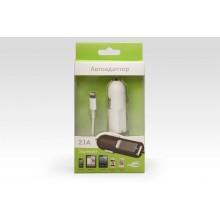 Автозарядка Lightning + порт USB 2.1A. Подходит для Apple iPhone 6 Plus, iPhone 6, других смартфонов