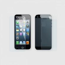 Защитная плёнка 2 в 1 (глянцевая) для iPhone 5/5s/SE