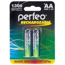 Аккумулятор Perfeo AA 1300mAh Ni-MH 1,2V (блистер/2шт).