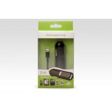 Автоадаптер Lighting с дополнительным портом USB 2.1A