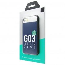 Защитная крышка для iPhone 7 dotfes G03 пластик синий