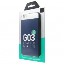 Защитная крышка для iPhone 6 Plus (5.5') dotfes G03 пластик синий
