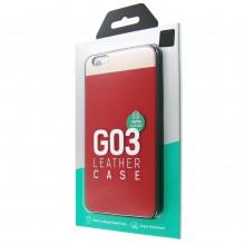 Защитная крышка для iPhone 6 Plus (5.5') dotfes G03 пластик красный