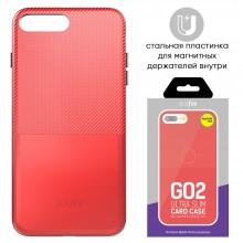 Защитная крышка для iPhone 6 Plus (5.5') dotfes G02 пластик красный