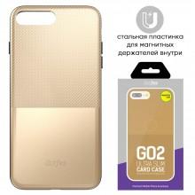 Защитная крышка для iPhone 6 Plus (5.5') dotfes G02 пластик золото