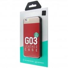 Защитная крышка для iPhone 6 (4.7')/6S dotfes G03 пластик красный