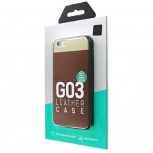 Защитная крышка для iPhone 6 (4.7')/6S dotfes G03 пластик коричневый