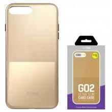 Защитная крышка для iPhone 6 (4.7')/6S dotfes G02 пластик золото
