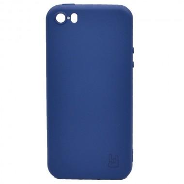 Чехол - накладка для iPhone 5/5S/SE YOLKKI Rivoli силикон синий