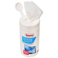 Влажные салфетки BURO BU-Tscrl, 100 шт (туба)